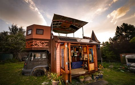 are tiny houses legal check out new zealanders justin and jola s street legal tiny house truck tiny