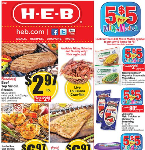 free printable grocery coupons heb heb weekly deals 2 22 2 28
