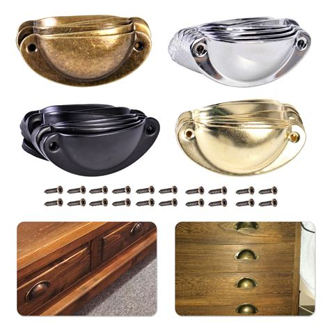 10pcs antique shell pull handle drawer cabinet furniture