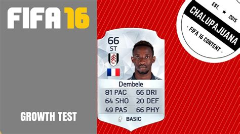 ousmane dembele fifa 14 fifa 16 moussa demb 233 l 233 st growth test youtube