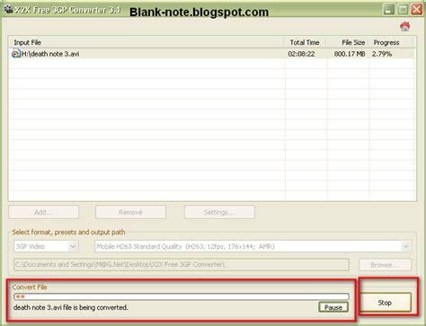 format dat adalah blank note mengubah format video apapun ke format hp 3gp