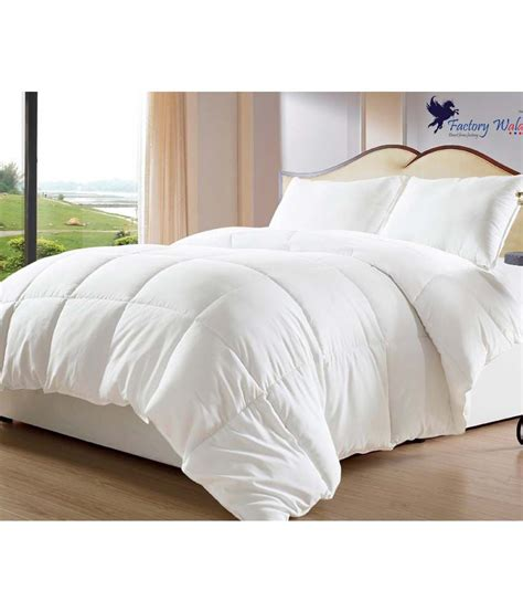 plain white comforter factorywala single poly flannel white plain comforter