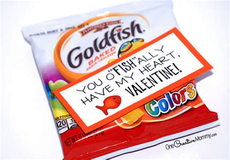 valentines day fish goldfish crackers printable cards