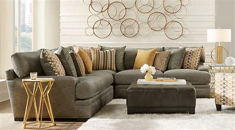gray furniture living room home palm springs gray 5 pc sectional