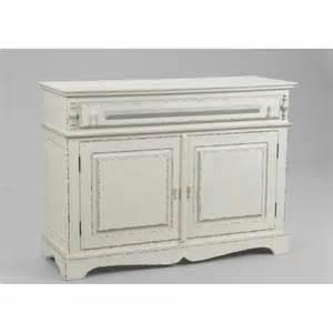 meuble de rangement ornement 110 cm en bois patin 233 blanc