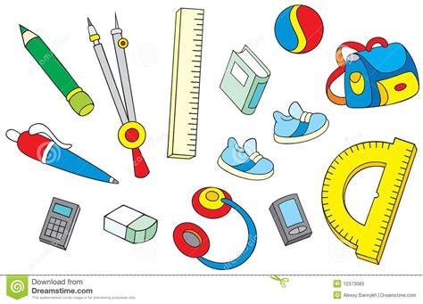 imagenes de utiles escolares a color para imprimir objetos de la escuela fotos de archivo imagen 12373083