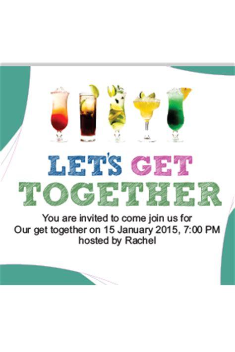 get together invitation get together invitation card