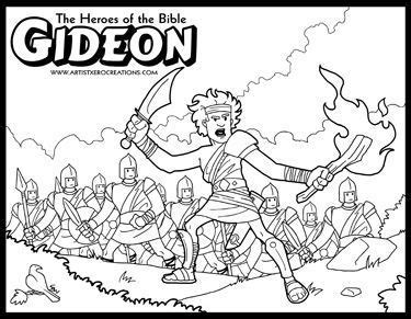 coloring pages for the book of judges the heroes of the bible coloring pages gideon pinterest