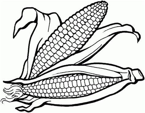 Indian Corn Coloring Page Coloring Home Corn Color Page
