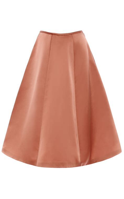 Color Panel Midi Skirt lyst esme vie withered panel midi skirt in brown