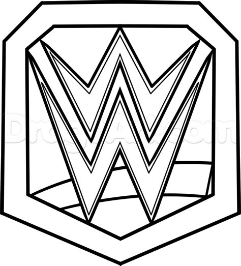 coloring pages wwe belts how to draw wwe chionship belt step by step sports