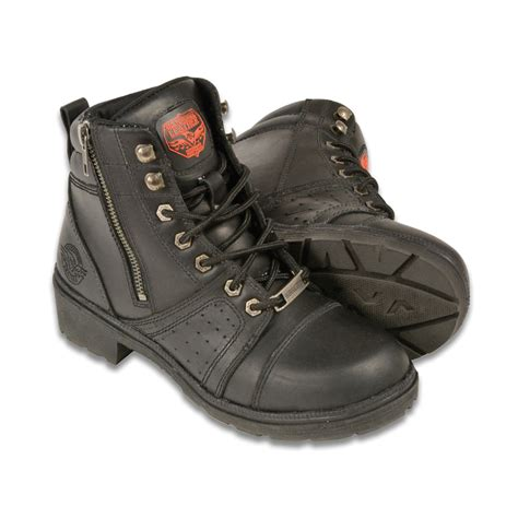 Motorcycle Apparel Online by Ladies Motorcycle Lace To Toe Boot Biker Apparel Online