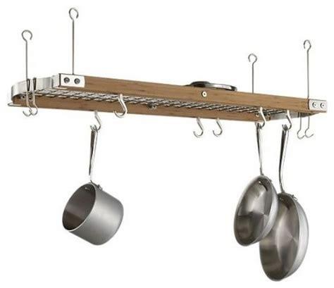 hang pots from ceiling ceiling pot rack kitchen ideas pot rack
