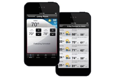 comfort app wi fi thermostats control home temperature from anywhere