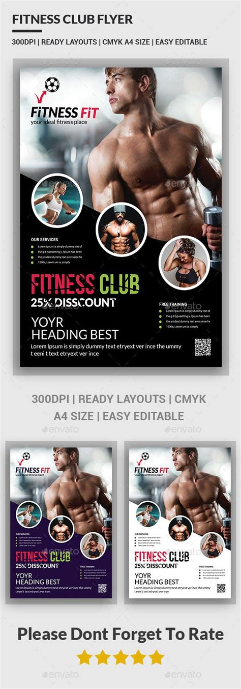 60 Best Fitness Gym Flyer Templates Images On Pinterest Fitness Flyer Flyer Template And Fitness Flyer Template