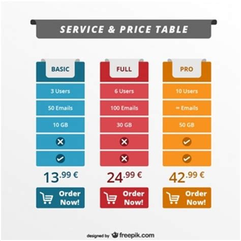 pricing table vectors photos and psd files free