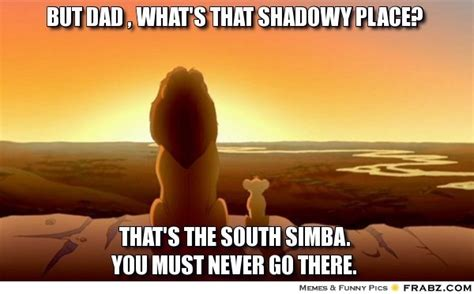 Lion King Schenectady Meme - but dad what s that shadowy place simba meme