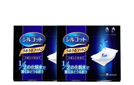 Unicharm Silcot Uru Uru Cotton Sheet Puff twinpack silcot uru uru puff 40 pads hermo shop malaysia