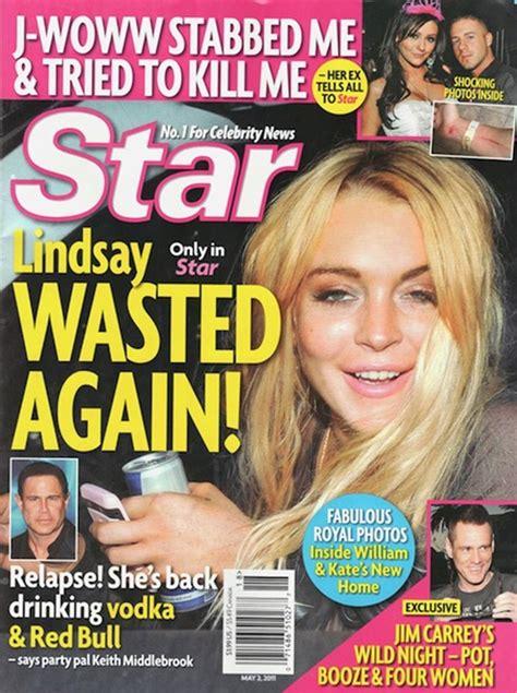 celebrity news magazines list keith middlebrook lindsay lohan star magazine the real
