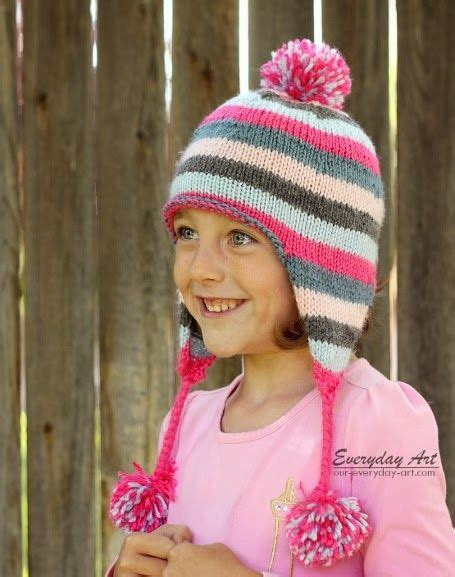 knitting pattern earflap hats for toddlers 72 best knitting hats children free patterns images on