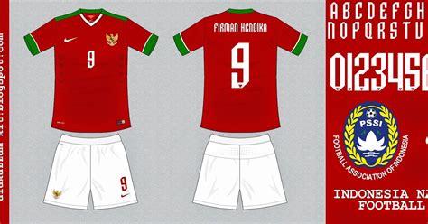 jasa desain jersey balap indonesia national football team home kit 2014 2015 nike