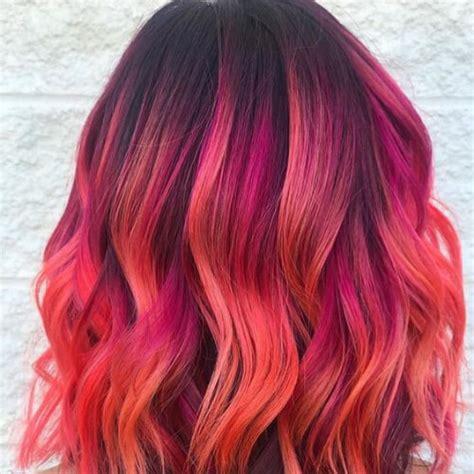 sunset hair color 50 happy hair color for summer ideas hair motive hair motive