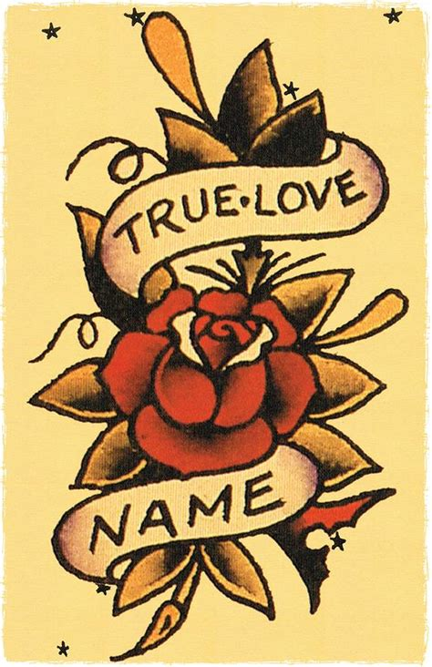 sailor jerry rose tattoo 11 x 17 true banner wrapped around roses sailor jerry