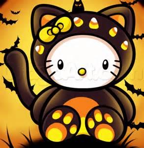 draw halloween kitty step step halloween seasonal free drawing