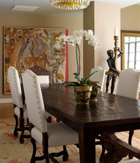 blossoming dining table flowers home decorating trends