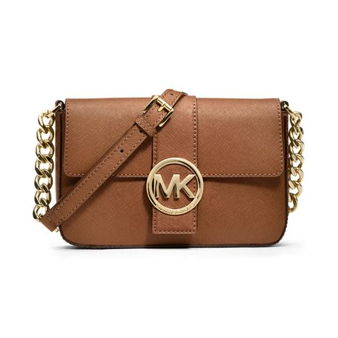 Michael Kors Small Satchel Luggage Ori lyst michael kors fulton small messenger bag in brown