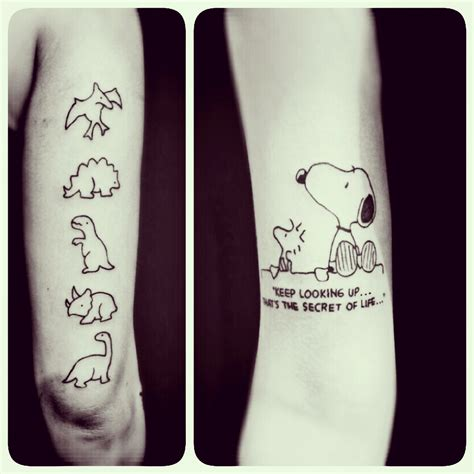stegosaurus tattoo snoopy the most beagle in the world