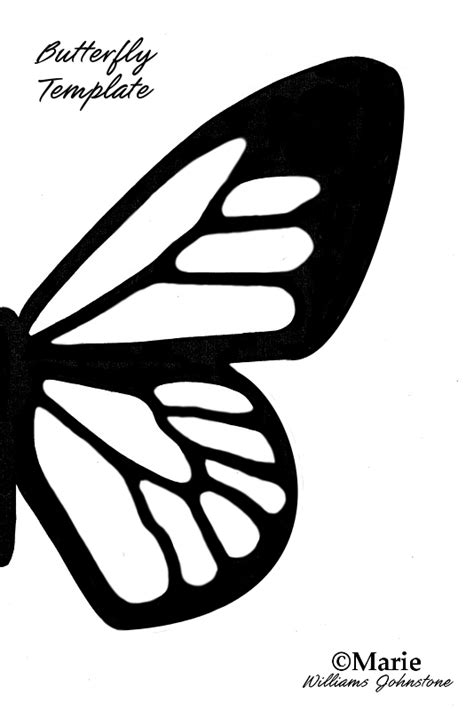 half butterfly template free printable butterfly silhouette template