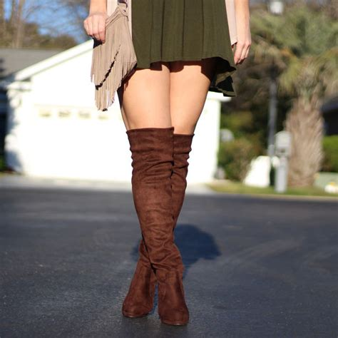 shoes brown suede thigh highs boots brown thigh high