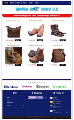 template toko online tanpa shopping cart 2 template blogspot toko online terbaik tanpa shopping cart