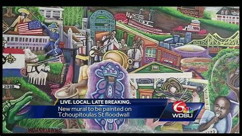 mural  depict  years   orleans history