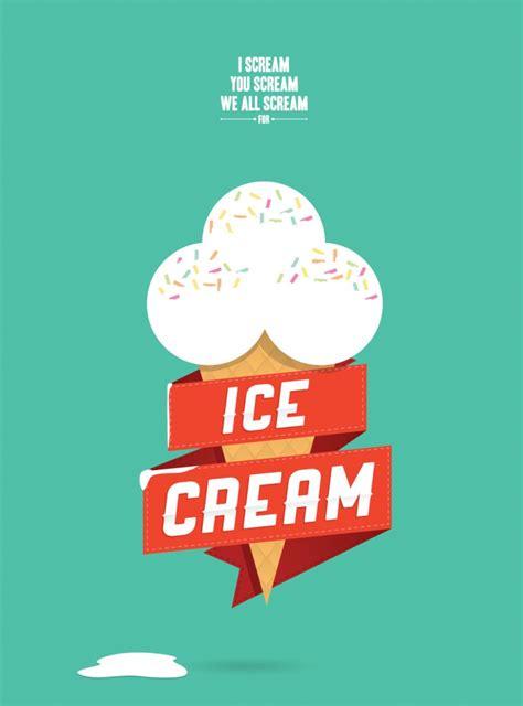 design poster ice cream i scream you scream we all scream for ice cream on