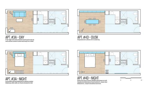 micro apartments floor plans winner of the adapt nyc micro apartment contest announced