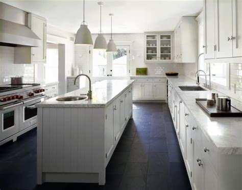 White Slate Countertops White Kitchen Slate Floor Not Keen On The Country Look