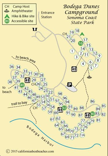 california coast cgrounds map sonoma coast state park cing