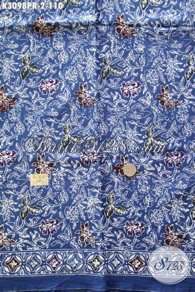 Batik Dress Bunga Biru batik bahan warna biru motif bunga produk