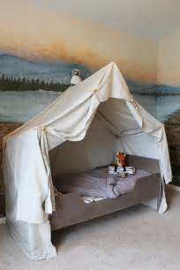 Canopy Tent Bedroom Remodelaholic Cing Tent Bed In A Kid S Woodland Bedroom