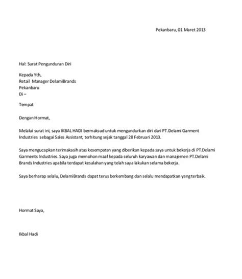 contoh surat pengunduran diri buat kamu yang mau resign