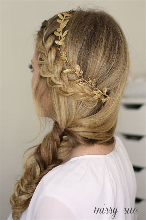 french braids in frnt and boxed braids in back french braid and side fishtail braid