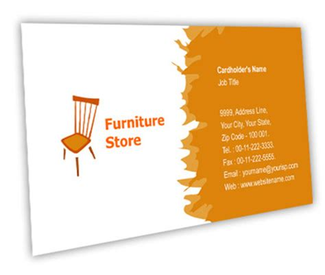 Create A Picture Collage Online business card design for furniture store offset or digital