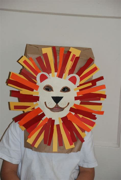 Paper Craft Mask - craft paper bag mask craft