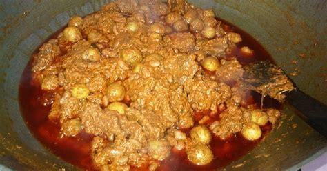 Freezer Daging Ukuran Kecil resep rendang daging kacang merah kentang oleh imelda