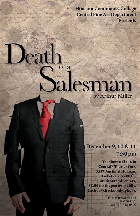 death of a salesman play theme poster design for the play quot death of a salesman quot on behance
