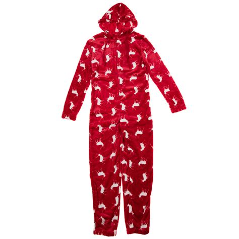 b m ladies christmas onesie red christmas clothing