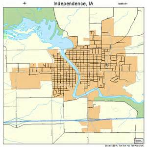 independence map independence iowa map 1938100