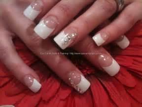 eye candy nails amp training white tips with swarovski
